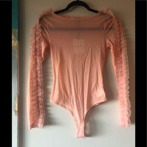 ASOS pink mesh bodysuit